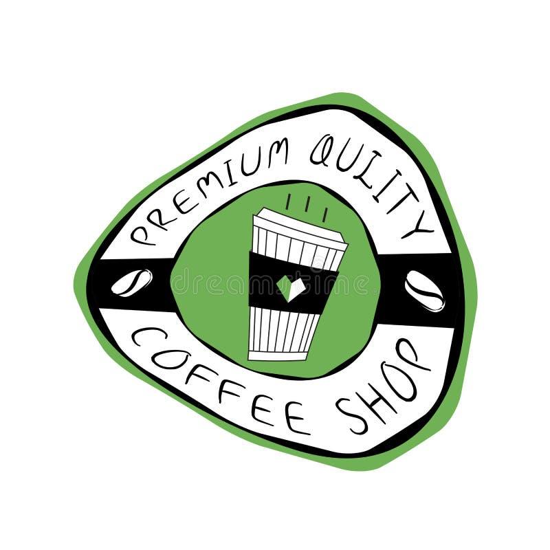 Vetor do logotipo da cafetaria, projeto do ?cone do copo de caf?, ?cone da Web ilustração royalty free
