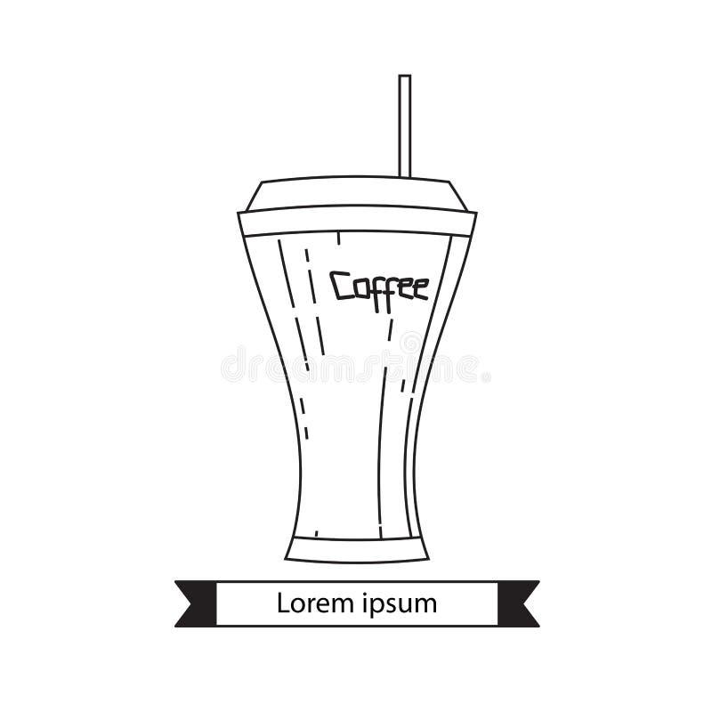 Vetor do logotipo da cafetaria, projeto do ?cone do copo de caf?, ?cone da Web ilustração do vetor