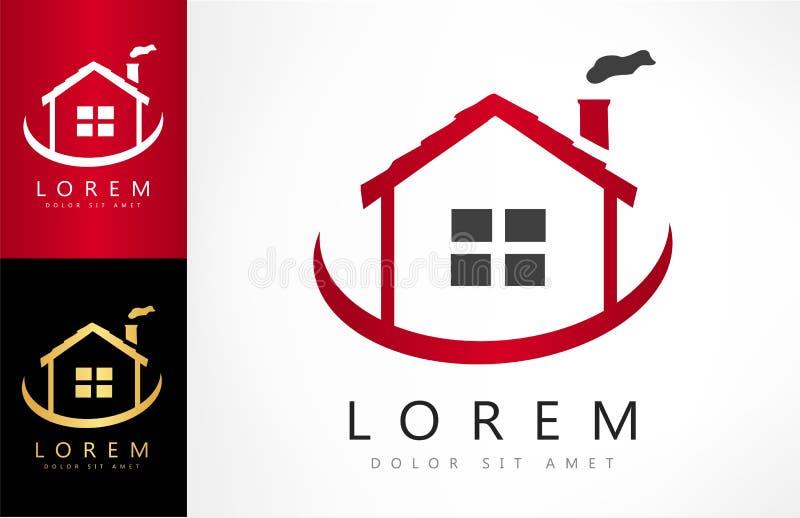 Vetor do logotipo da casa ilustração do vetor