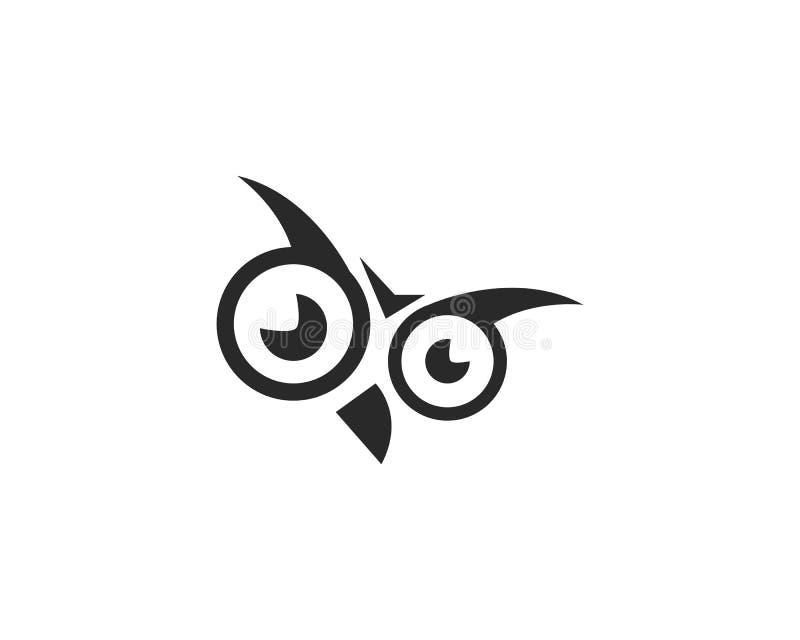 Vetor do logotipo da coruja ilustração stock