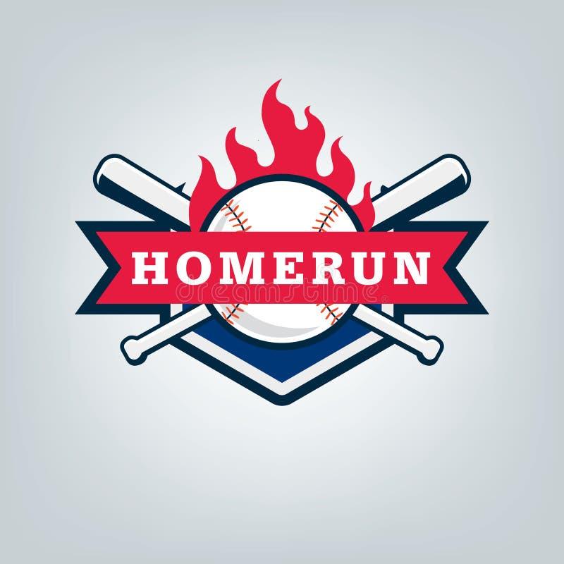 Vetor do logotipo da equipe de esporte do basebol ilustração do vetor
