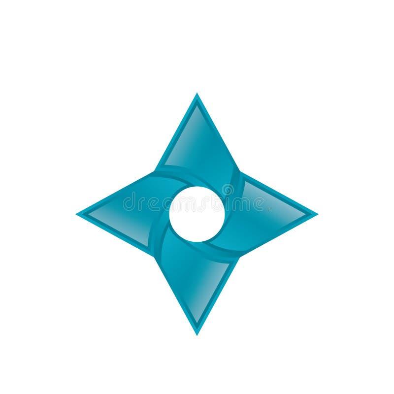 Vetor do logotipo da faísca 3D ilustração do vetor