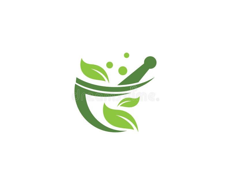 Vetor do logotipo da farmácia ilustração royalty free