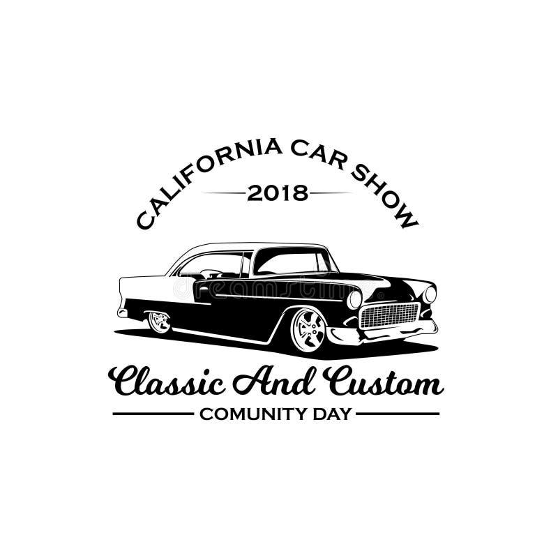 Vetor 2018 do logotipo da feira automóvel de Califórnia ilustração royalty free