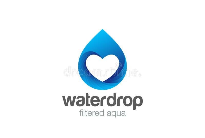 Vetor do logotipo da gota da água Aqua Filter Technology Dro ilustração stock