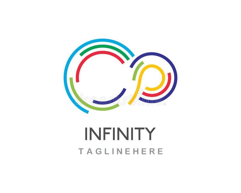 Vetor do logotipo da infinidade ilustração royalty free