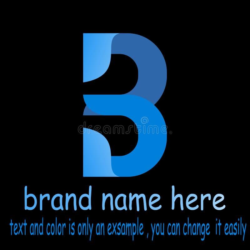 Vetor do logotipo da letra b de Abstrct ilustração do vetor