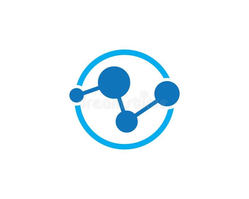 vetor do logotipo da molécula ilustração royalty free