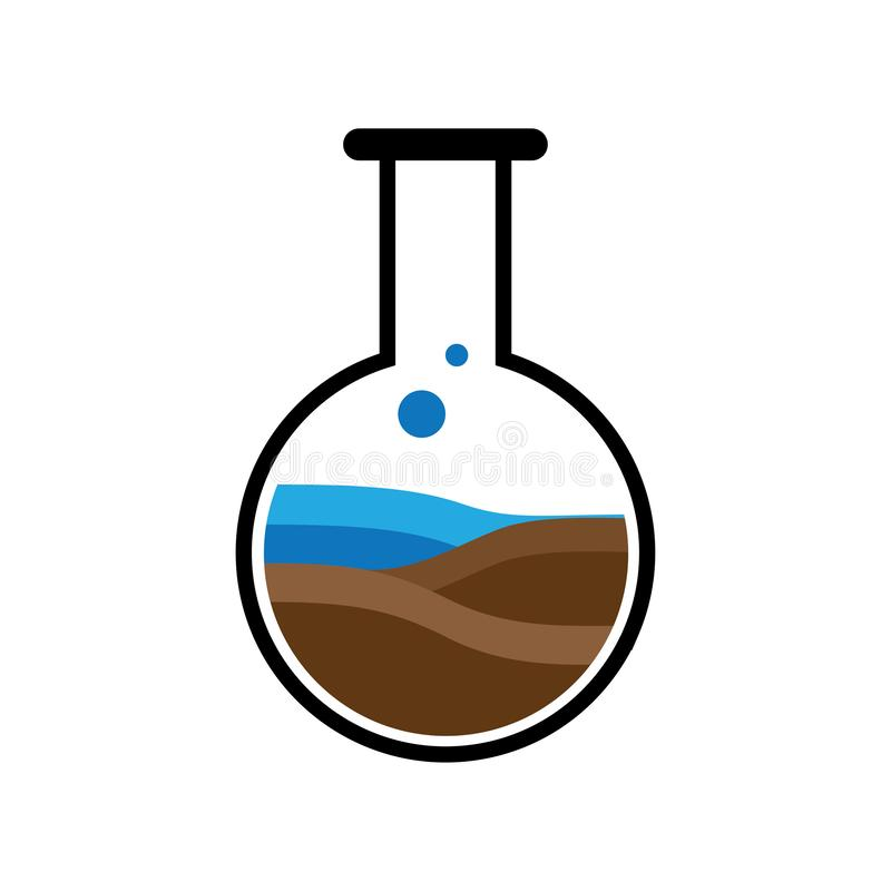 Vetor do logotipo da natureza dos laboratórios ilustração royalty free