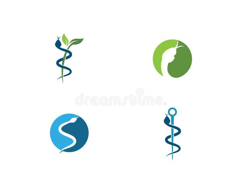 Vetor do logotipo da serpente ilustração stock