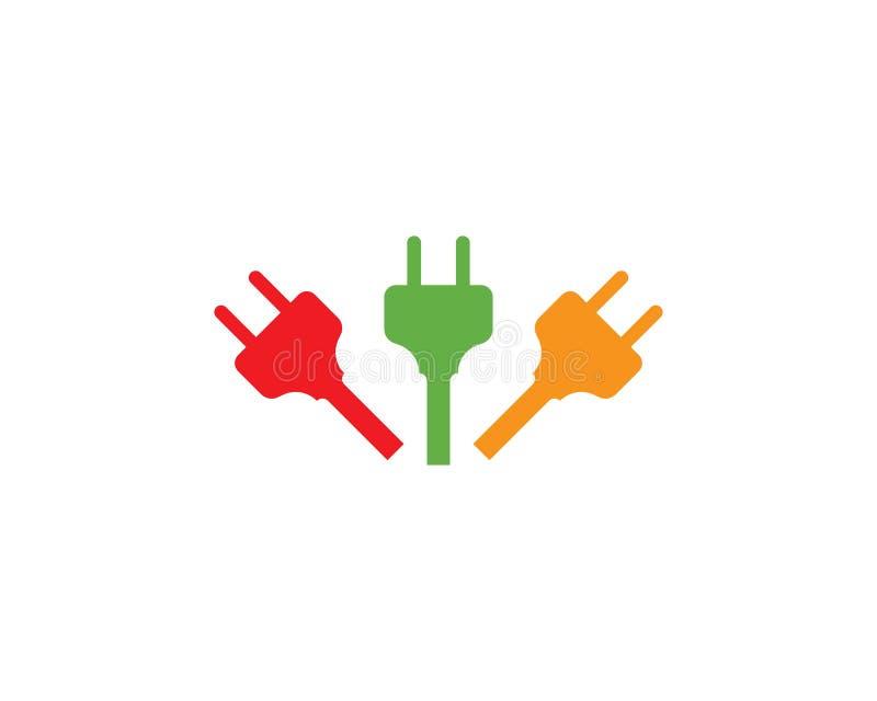 vetor do logotipo da tomada elétrica ilustração stock