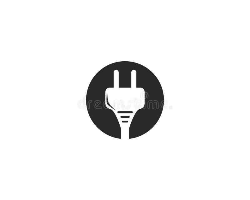 vetor do logotipo da tomada elétrica ilustração do vetor