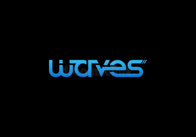 Vetor do logotipo das ondas ilustração stock