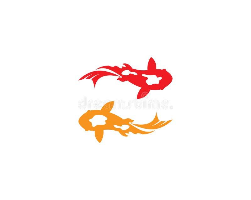 Vetor do logotipo de Koi Fish ilustração do vetor