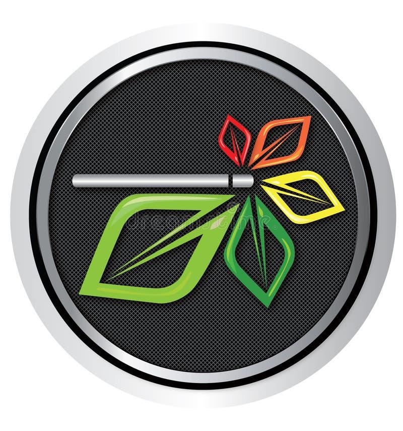 Vetor do logotipo do cigarro de E fotos de stock royalty free