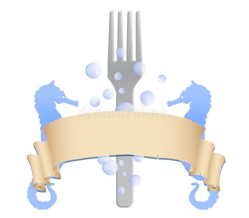 Vetor do logotipo do restaurante do marisco ilustração stock