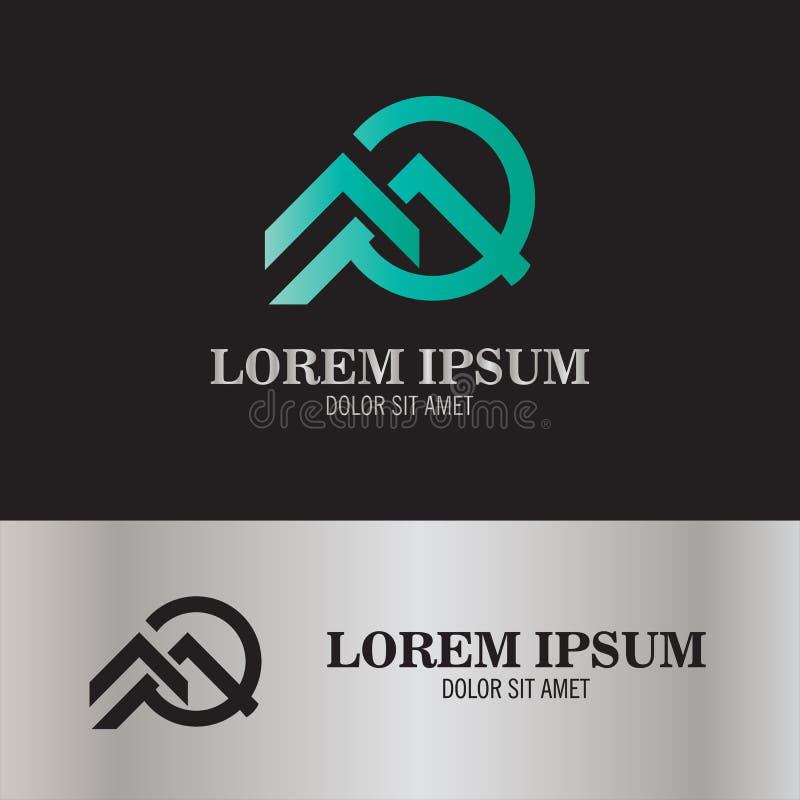Vetor do logotipo do telhado ilustração stock