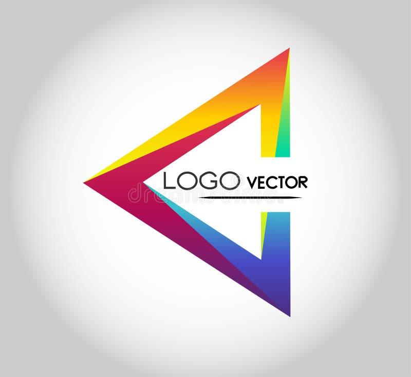 Vetor do logotipo do triângulo fotografia de stock