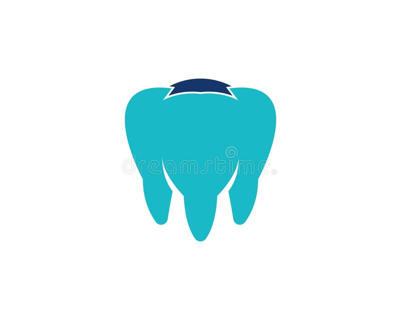 Vetor do logotipo dos cuidados dent?rios da sa?de ilustração stock