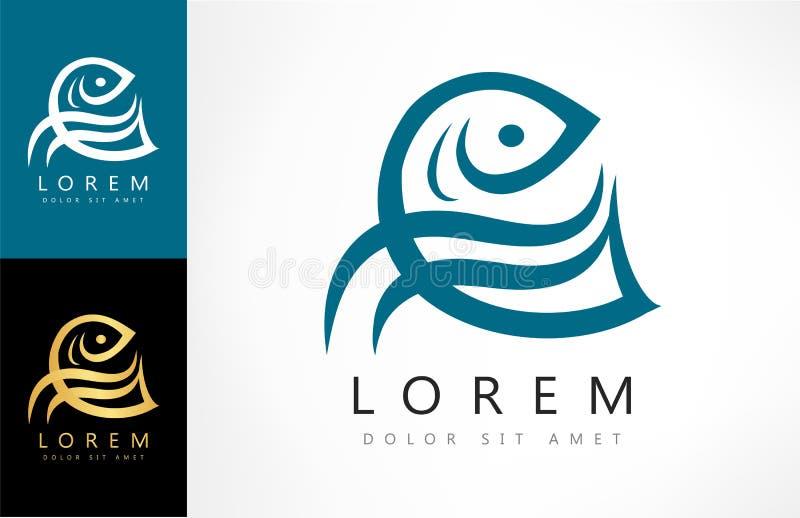 Vetor do logotipo dos peixes ilustração stock