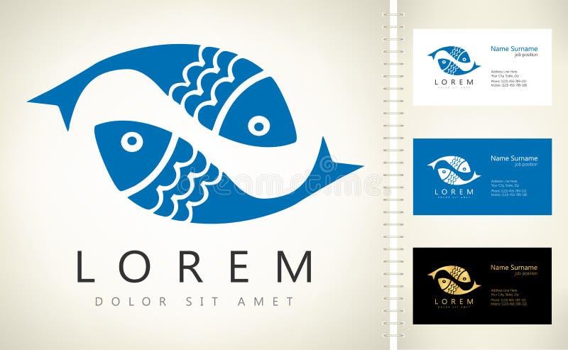 Vetor do logotipo dos peixes ilustração royalty free