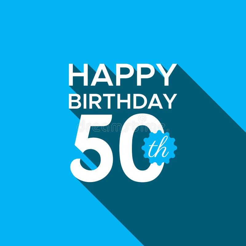 Vetor do logotipo do feliz aniversario 50th ilustração royalty free