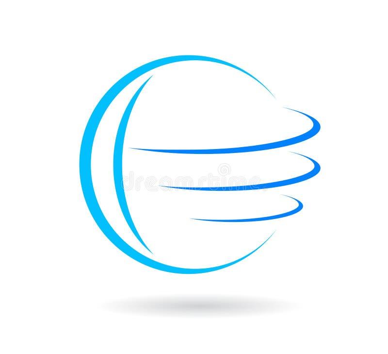 Vetor do logotipo do globo ilustração stock