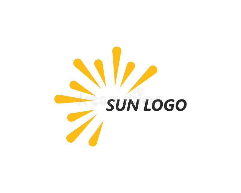 vetor do logotipo do ilustration do sol ilustração do vetor