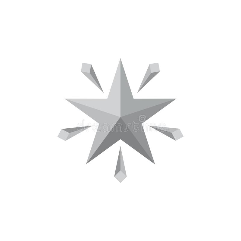 Vetor do logotipo do inclinação da estrela 3d do brilho ilustração do vetor