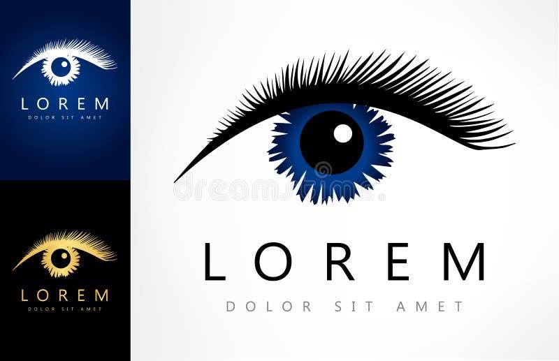 Vetor do logotipo do olho ilustração stock