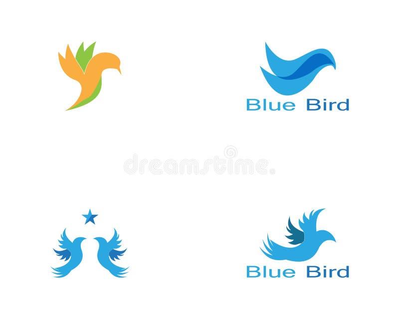 Vetor do logotipo do p?ssaro Molde do vetor do projeto do logotipo do p?ssaro de voo ?cone do conceito do Logotype do pombo da po ilustração do vetor