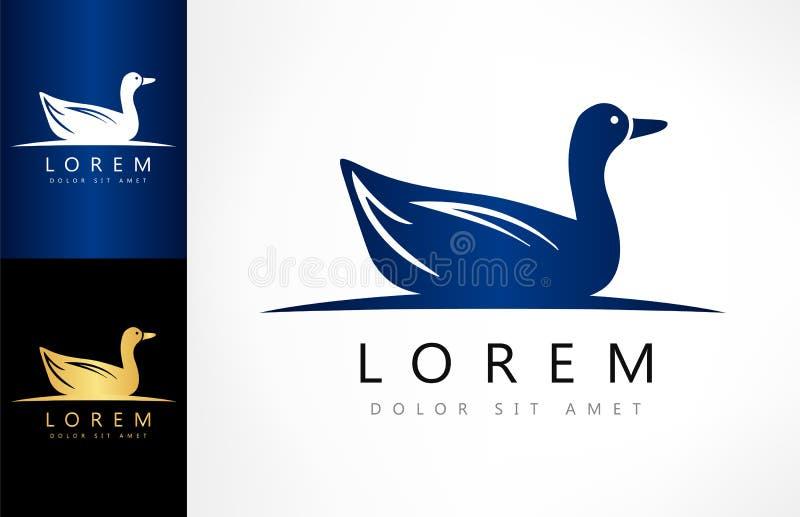 Vetor do logotipo do pato ilustração royalty free