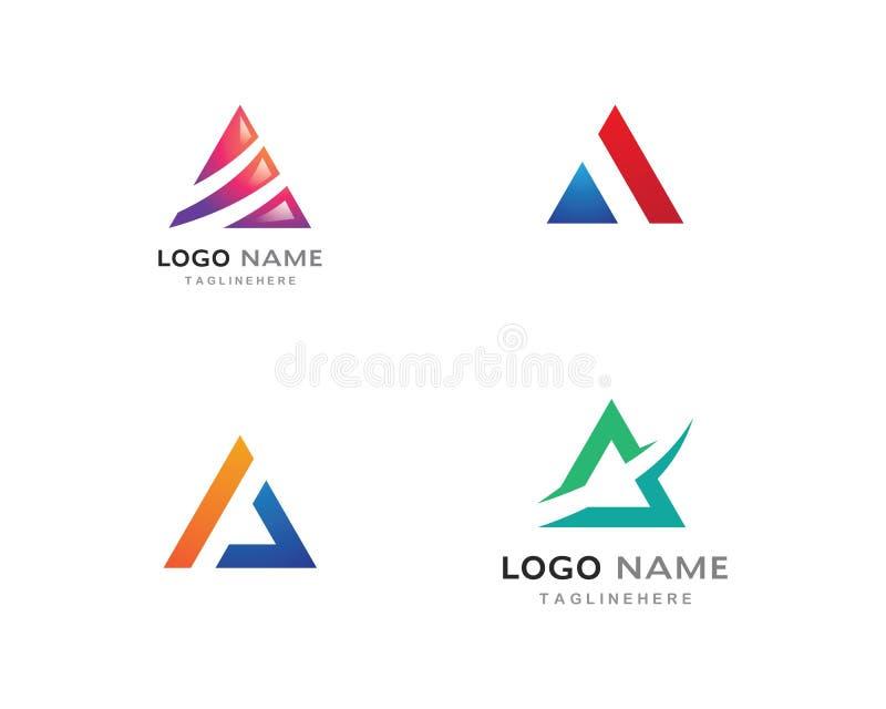 Vetor do logotipo do triângulo ilustração royalty free