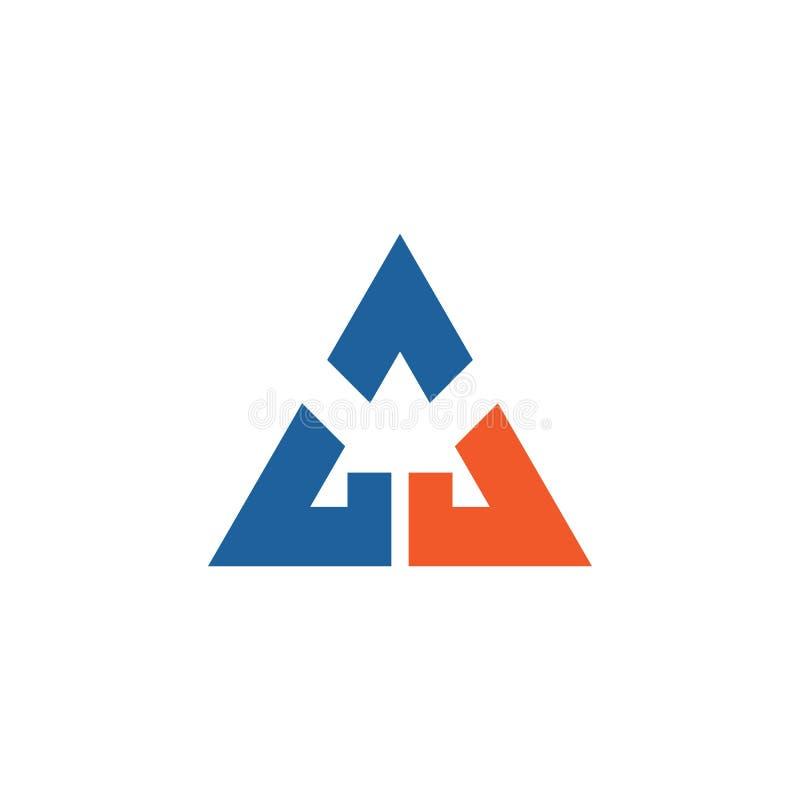 Vetor do logotipo do tri?ngulo ilustração stock