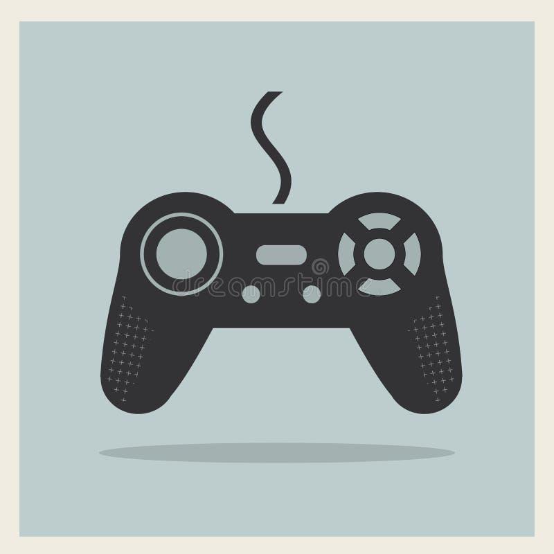 Vetor do manche do jogo de vídeo do computador ilustração royalty free