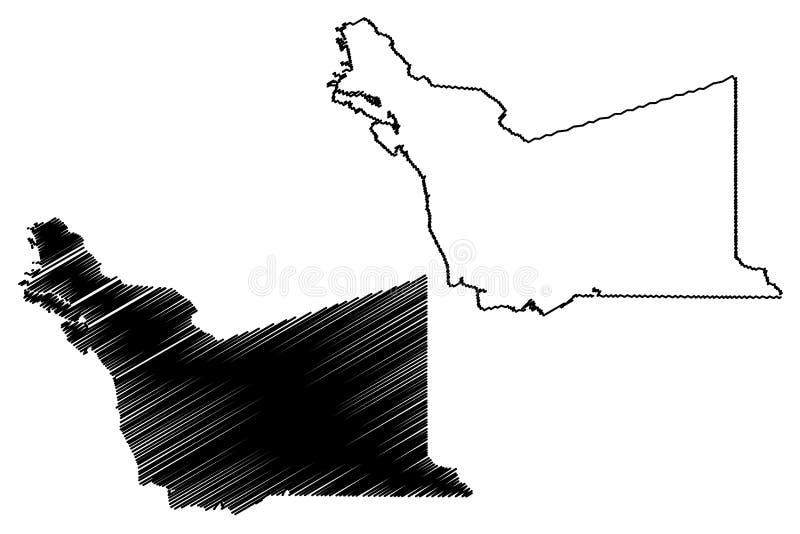 Vetor do mapa de Alameda County, Calif?rnia ilustração do vetor
