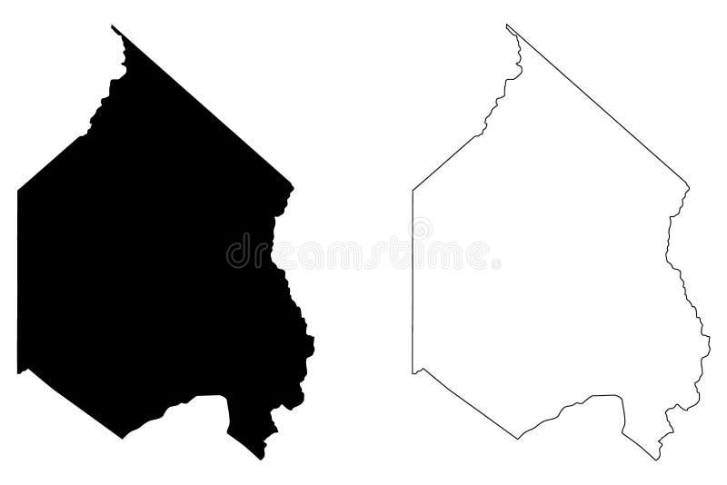 Vetor do mapa de Alpine County, Califórnia ilustração do vetor