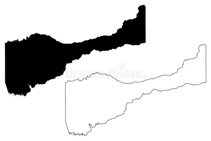 Vetor do mapa de Amador County, Califórnia ilustração do vetor