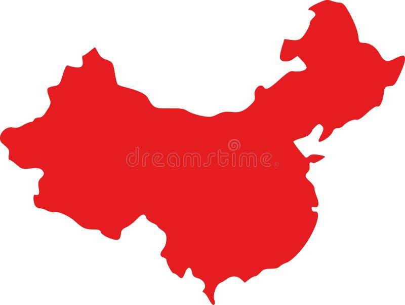 Vetor do mapa de China ilustração stock
