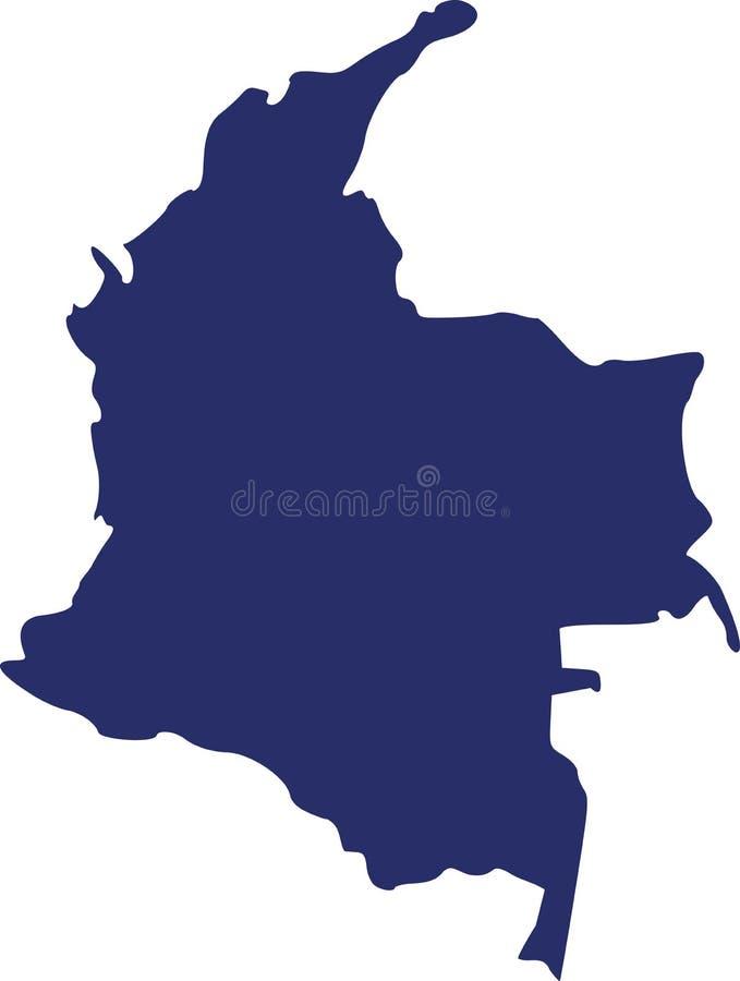 Vetor do mapa de Colômbia ilustração stock
