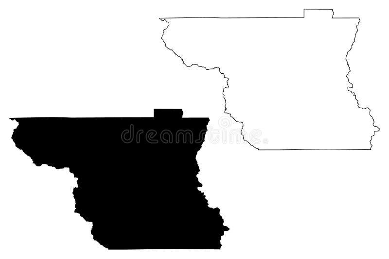 Vetor do mapa de Colusa County, Califórnia ilustração royalty free