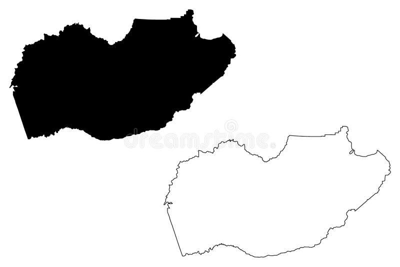 Vetor do mapa de El Dorado County, Califórnia ilustração royalty free
