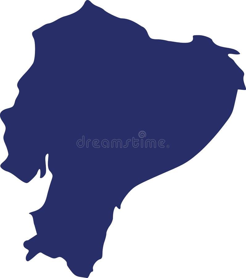 Vetor do mapa de Equador ilustração stock