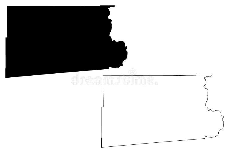 Vetor do mapa de Imperial County, Califórnia ilustração do vetor