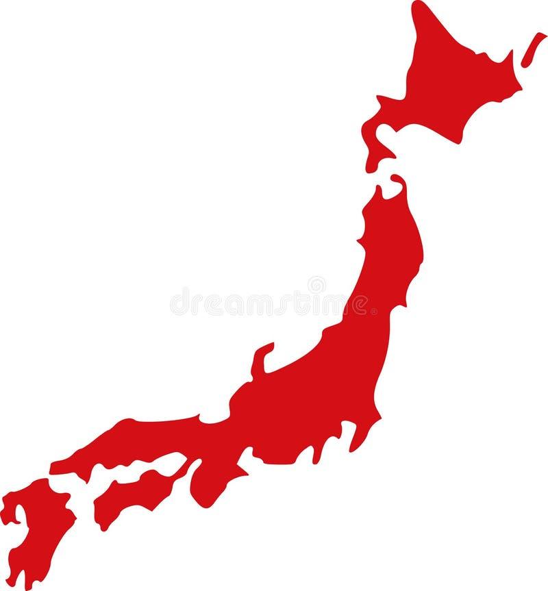 Vetor do mapa de Japão ilustração royalty free