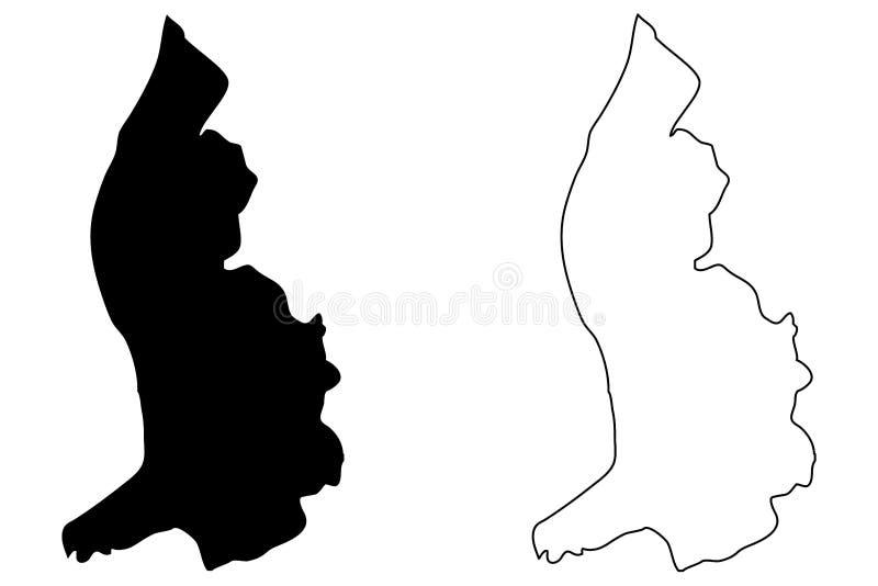 Vetor do mapa de Lichtenstein ilustração do vetor