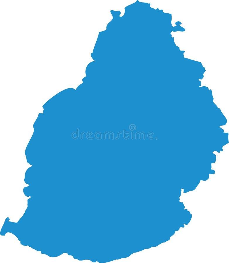 Vetor do mapa de Maurícias ilustração stock