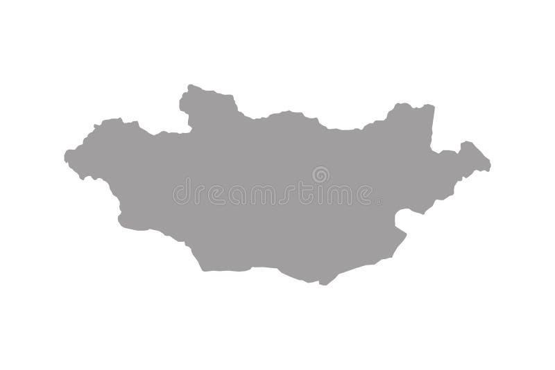 Vetor do mapa de Mongólia ilustração do vetor