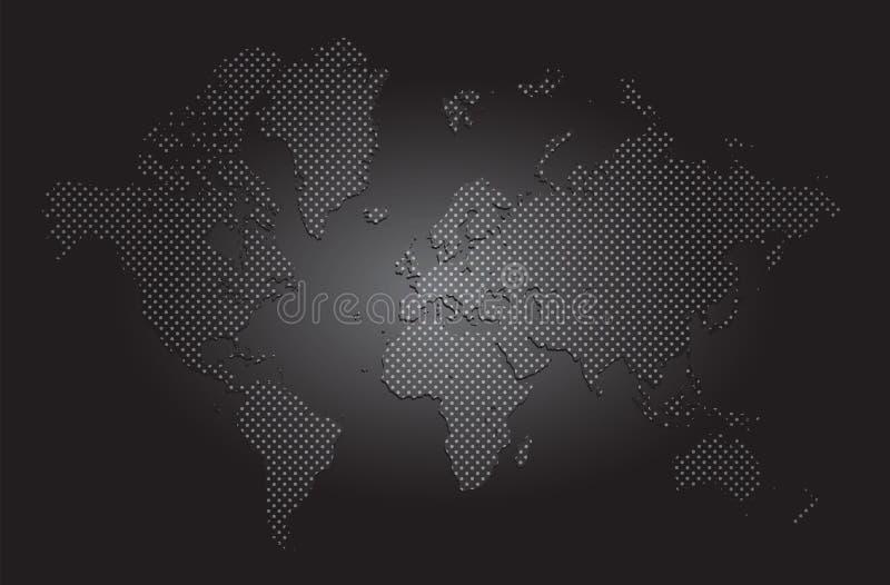 vetor do mapa de mundo ilustração do vetor