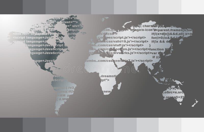Vetor do mapa de mundo ilustração stock